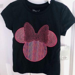NWT Disney Minnie Black Short Sleeve Tee, size 4